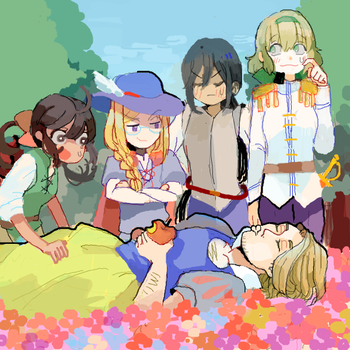 hetalia france and girls by jonasan814