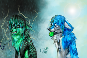 Formaldehyde and Blizzard doodle xD by Ryuu-sai