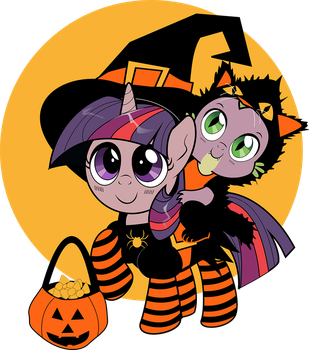 The Witch and Her Black Cat by dSana
