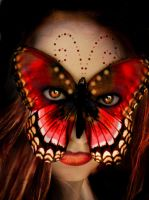 Red Butterfly Mask by ThornErose