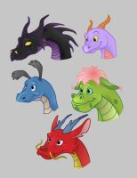 Disney Dragon Stickers by DragonFireArt