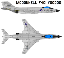 McDonnell F-101 Voodoo by bagera3005