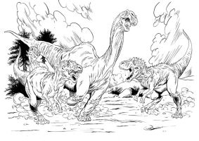 Allosaurus Attack by grobles63