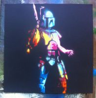 the bounty hunter Jango Fett by jarbid
