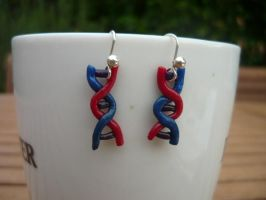 Double Helix Earrings by PhantomxFan