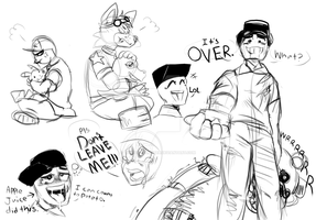 -Comic Doodle Dump- by The-Star-Hunter