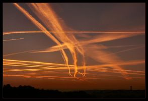 Sunrise and Air Trafic by philcopain