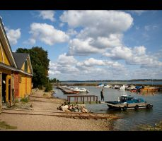 Boathouses by Pajunen