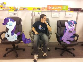 Buying a Chair with Rarity and Twilight by EMedina13