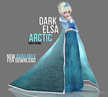 [MMD] Dark Elsa - Arctic AVAILABLE by wintrydrop