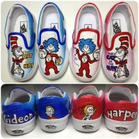 Thing 1 and Thing 2 TWIN Shoes MINI by hcram5