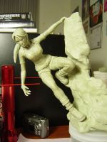 Lara Croft Statue-WIP 02 by red3183