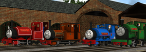Four Little Engines by lbbrian