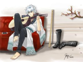 Gintoki at home. :) by mijanee