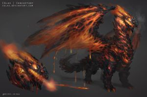 Lava Dragon by CGlas