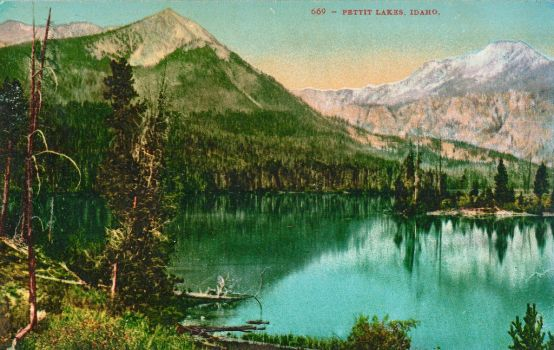 Vintage Idaho - Sawtooth Mountains Lakes by Yesterdays-Paper