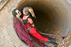 Joker and Harley Quinn - Halloween Shoot 3 by LukeStrife5