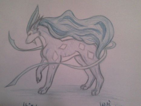 Realistic Shiny Suicune by Vampiric-Rocker