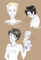 Percy Jackson Characters by WillowLightfoot