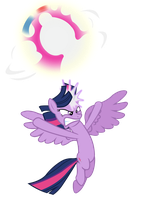 Twilight's Spirit Bomb by davidsfire