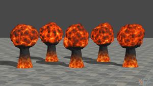 Explosions for XNALara/XPS by dasliebesverbot