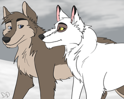 Balto's Parents by DiggittyDawg