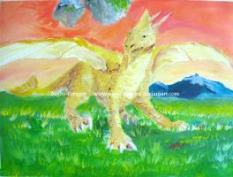 Dragon at Sunset-finished by Night-Forager