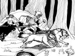Inktober 10 Keepers of the woods by DunadanX