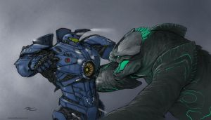 Jaeger Rumble by RobtheDoodler