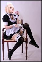 Fate/Hollow Ataraxia - Saber Maid by YuukiCosplayer