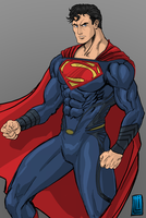 Superman Man of Steel by lucio7lopez