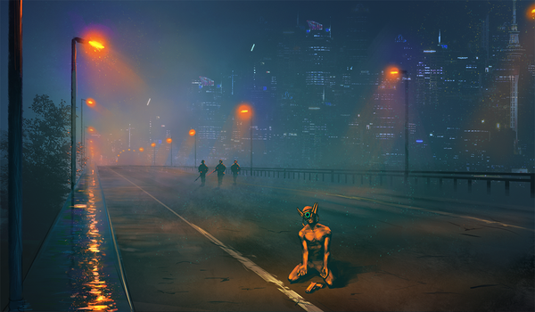 Cyberpunk speed by RabidBlackDog