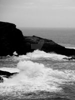 Wave Crash BW 1 by jac0ba