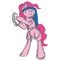 Pinkie Pie short animation loop by Midnight-Soliloquy