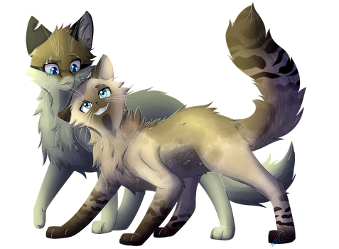 Dunmask and Alphaclaw - Comm by BlueWildfire9