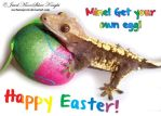 EASTER GECKO GREETINGS! by NocturneJewel
