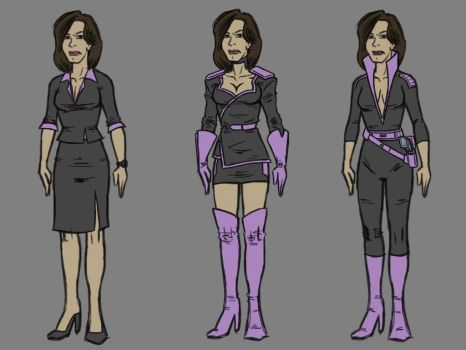 Linda character and costume designs 1 by Tim4