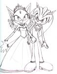 Blaze and her Prince-consort by theOrangeSunflower