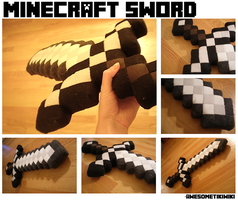 Minecraft Sword - Plush by AwesomeTikiWiki
