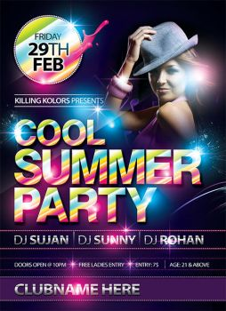 Cool Summer  Party Flyer by mantushetty