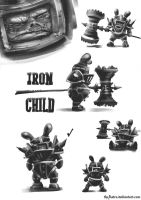 PIL Chalkcepts - Iron Child by TheAstro