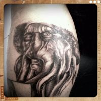 Captain Davy Jones tattoo by dottcrudele