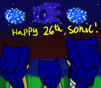 Happy Birthday Sonic! by GhosthogPhantazia