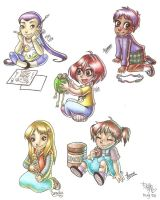 Baby W.i.t.c.h.-es by frandemartino