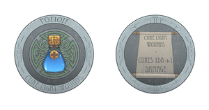 Cure Light Wounds Potion Token - variant by cyderak