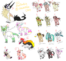 MISC. Adoptables OPEN PRICES DOCKED by zuuserpentadopts