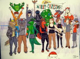 A Merry Christmas to my DA friends by ChaoticUmbra