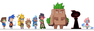 Li'l Pixel HB Characters by The-Knick