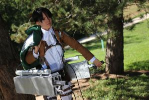 Eren's Levi Patrol Shingeki no Kyojin Attack by mystearicaTOA