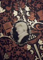 Sherlock Holmes Cameo Necklace by Snuffles379